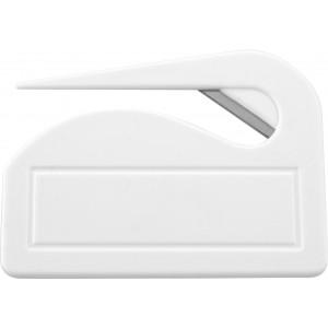 Műanyag levélbontó, fehér