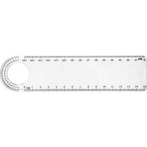 Átlátszó vonalzó, 15 cm, műanyag