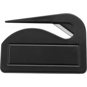 Műanyag levélbontó, fekete