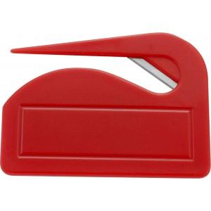 Műanyag levélbontó, piros